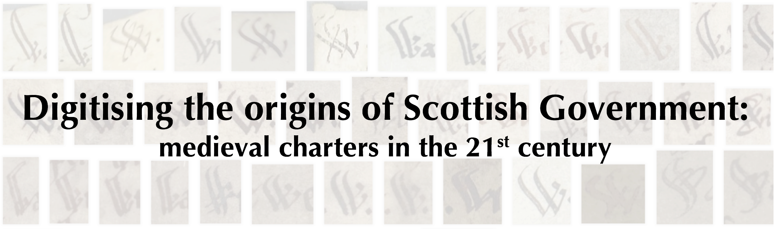 Digitising the origins of Scottish Government, public conference banner